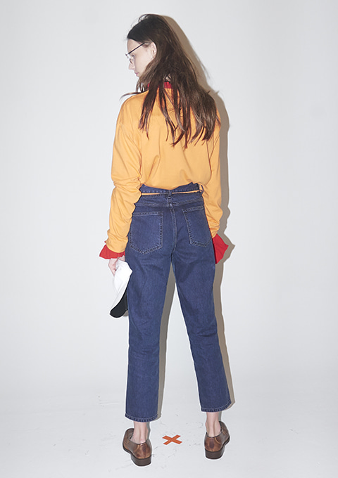 TIN DENIM PANTS - VIOLET