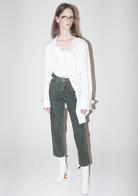 TIN DENIM PANTS - MINT