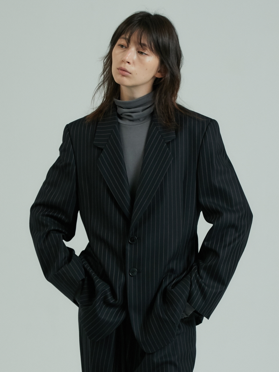 RETRO MEN'S BLAZER - NAVY STRIPE