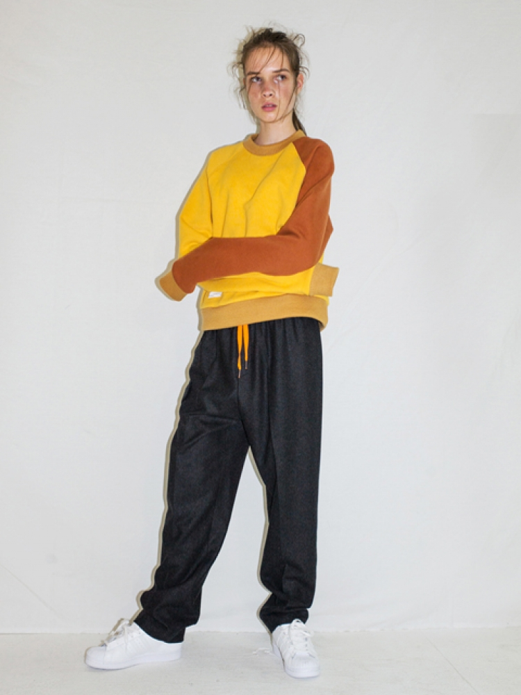 [UNISEX]WOOL STRING PANTS - CHARCOAL