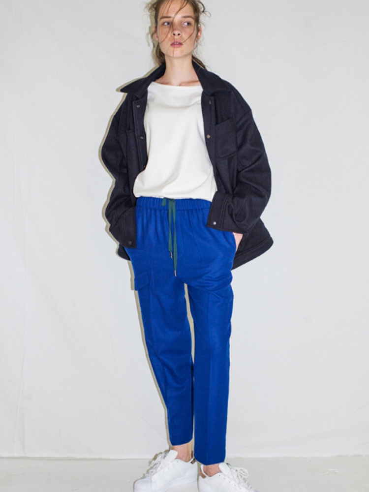 [UNISEX]WOOL STRING PANTS - BLUE