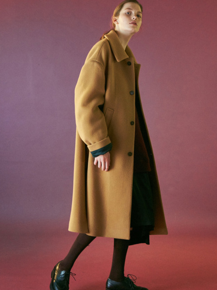 OVERSIZED MAXI COAT-CAMEL