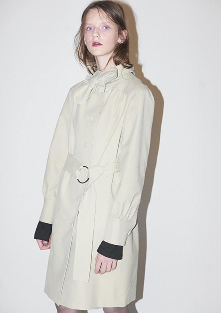 TIED TRENCH COAT - BEIGE
