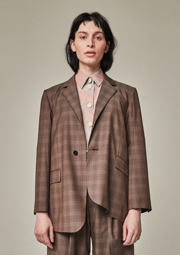 OLD MAN BLAZER - BROWN CHECK